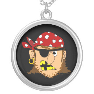 Materia adaptable del pirata del hombre del pirata colgante redondo