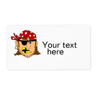 Materia adaptable del pirata del hombre del pirata etiqueta de envío