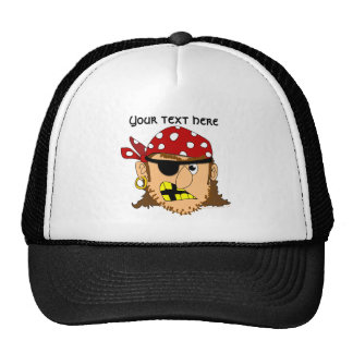 Materia adaptable del pirata del hombre del pirata gorros