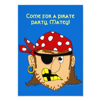 "Materia adaptable del pirata del hombre del pirata invitación 5"" x 7"""