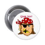 Materia adaptable del pirata del hombre del pirata pin