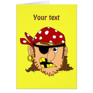 Materia adaptable del pirata del hombre del pirata tarjeta de felicitación
