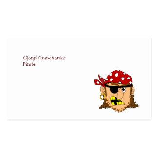Materia adaptable del pirata del hombre del pirata tarjetas de visita