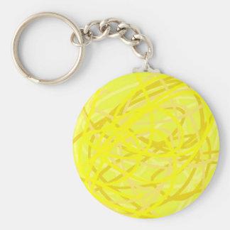 materia amarilla llavero redondo tipo pin