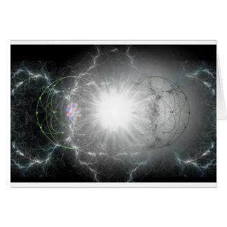 materia - colisión de la antimateria felicitación