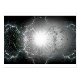 materia - colisión de la antimateria tarjetas postales