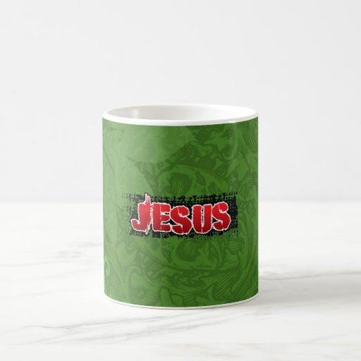 Materia cristiana taza de café