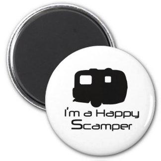 ¡Materia de diversión feliz del Scamper! Imán Redondo 5 Cm
