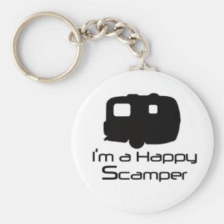 ¡Materia de diversión feliz del Scamper! Llavero Redondo Tipo Pin