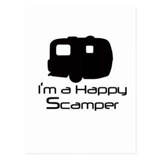 ¡Materia de diversión feliz del Scamper! Postales