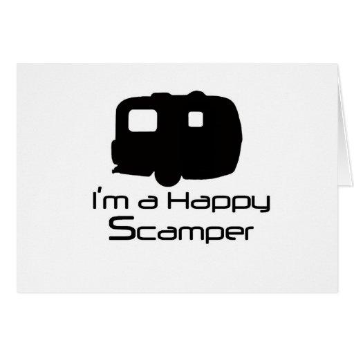 ¡Materia de diversión feliz del Scamper! Felicitacion
