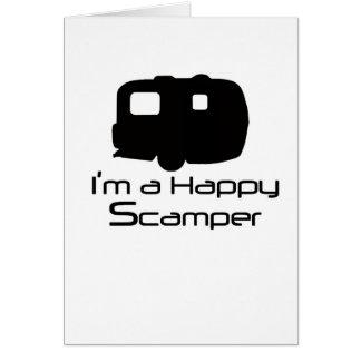 ¡Materia de diversión feliz del Scamper! Tarjeta De Felicitación