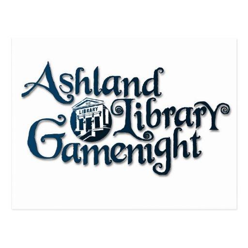 Materia de Gamenight de la biblioteca de Ashland Postales