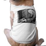 Materia de Johann Sebastian Bach Playera Sin Mangas Para Perro