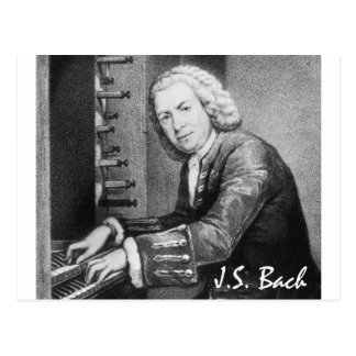Materia de Johann Sebastian Bach Postales