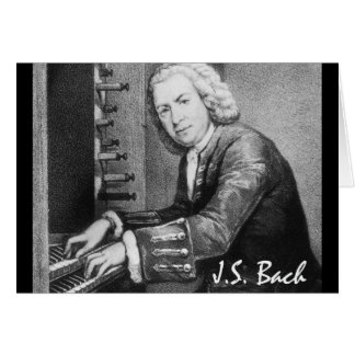 Materia de Johann Sebastian Bach Tarjeta Pequeña