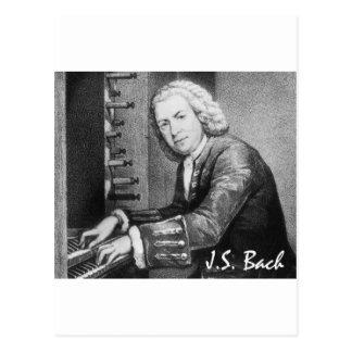 Materia de Johann Sebastian Bach Tarjeta Postal
