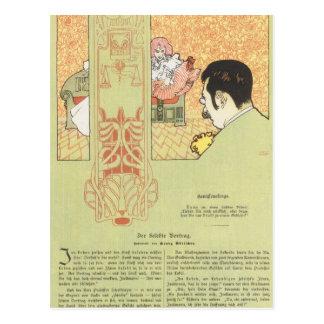 Materia de Koloman Moser- de la conciencia Tarjetas Postales