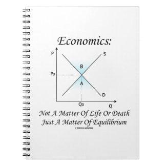 Materia de la economía no del equilibrio de la cuaderno
