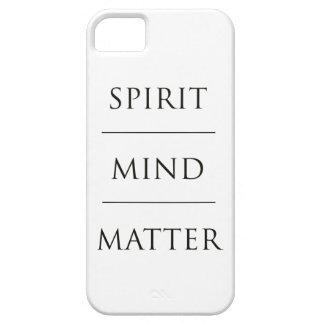 Materia de la mente del alcohol iPhone 5 fundas
