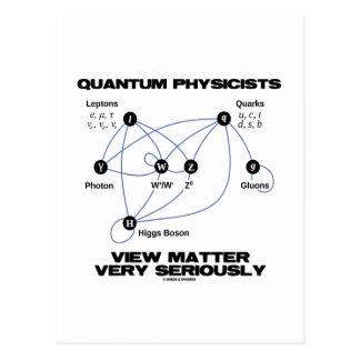Materia de la opinión de los físicos de Quantum Postal