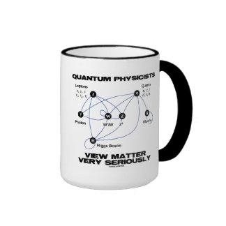 Materia de la opinión de los físicos de Quantum Taza De Dos Colores