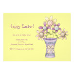 Materia de la primavera · Flores y florero Invitacion Personalizada