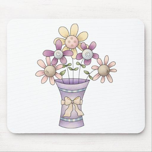 Materia de la primavera · Flores y florero Alfombrillas De Ratones
