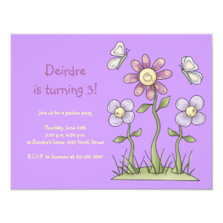 Materia de la primavera · Flores y mariposas Invitación 10,8 X 13,9 Cm