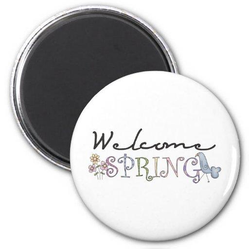 Materia de la primavera · Primavera agradable Imanes Para Frigoríficos