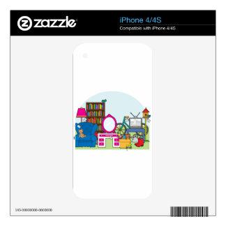 Materia de la venta de garaje calcomanías para el iPhone 4
