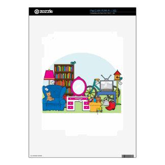 Materia de la venta de garaje iPad 2 skins