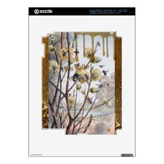 Materia de las abejas iPad 3 pegatina skin