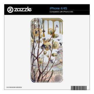 Materia de las abejas iPhone 4 calcomanías