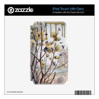 Materia de las abejas iPod touch 4G skin