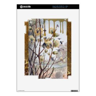 Materia de las abejas skins para iPad 2