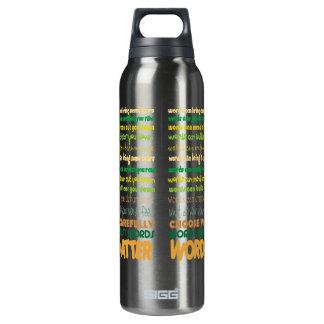 Materia de las palabras botella isotérmica de agua