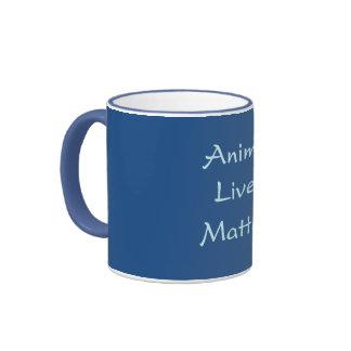"""""""Materia de las vidas animales!"""" Taza azul"""