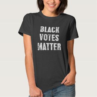 Materia de los votos negros camisas