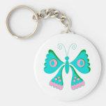 Materia de niños de las mariposas de la mariposa llavero personalizado
