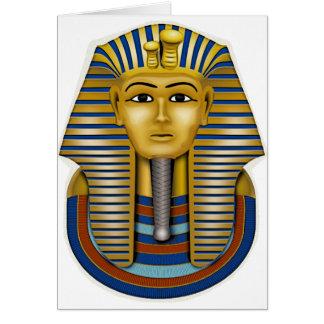 Materia de rey Tut Mask Costume Tees n Tarjeta De Felicitación