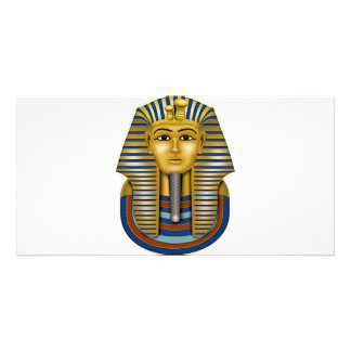 Materia de rey Tut Mask Costume Tees n Tarjeta Fotográfica Personalizada