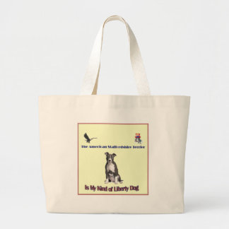 Materia de Staffordshire Terrier americano Bolsa Tela Grande
