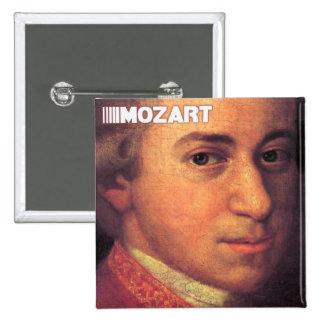 Materia de Wolfgang Amadeus Mozart Pin Cuadrado