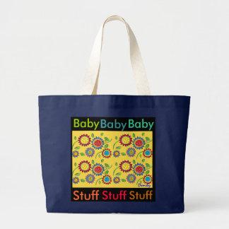Materia del bebé - tote amplio de la lona bolsa tela grande