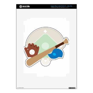 Materia del béisbol iPad 3 pegatina skin