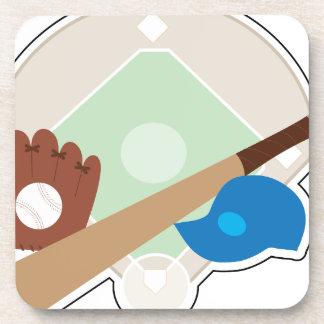 Materia del béisbol posavasos