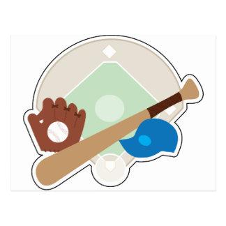 Materia del béisbol postal