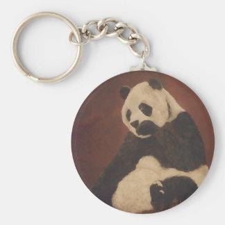 Materia del diseñador de CricketDiane de la panda  Llavero Redondo Tipo Pin