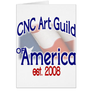 Materia del gremio del arte del CNC Tarjeta De Felicitación
